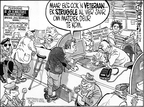 'Veterans on Pension': Africartoons.com