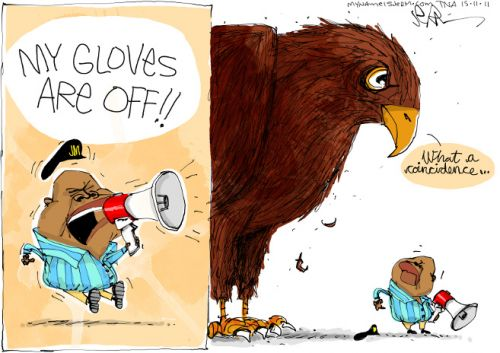 'The Talons Are Out For Malema': Africartoons.com