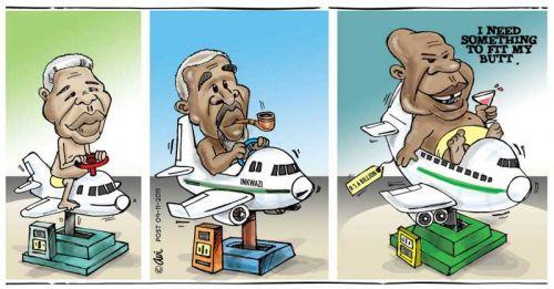 'A Plane Waste of Money': Africartoons.com