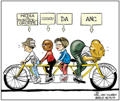 'Peddling Information in Different Directions': Africartoons.com