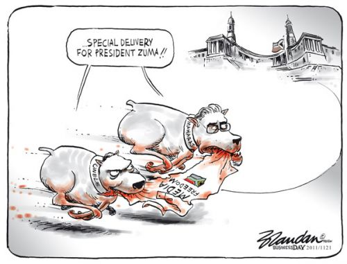 'Zuma&#039;s Bulldogs': Africartoons.com
