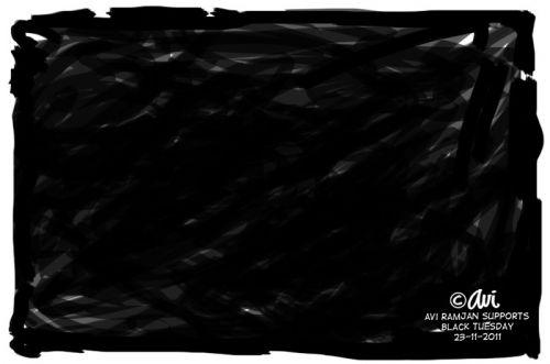 'BLACK TUESDAY | Cartoon by Avi Ramjan': Africartoons.com
