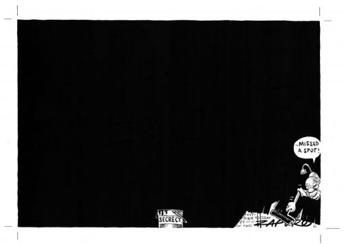 'BLACK TUESDAY | Cartoon by Zapiro': Africartoons.com
