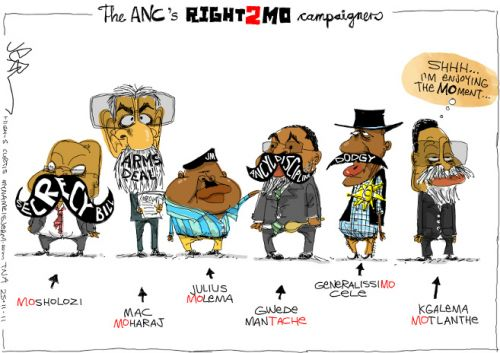 'The ANCs Right 2 Mo Campaigners': Africartoons.com