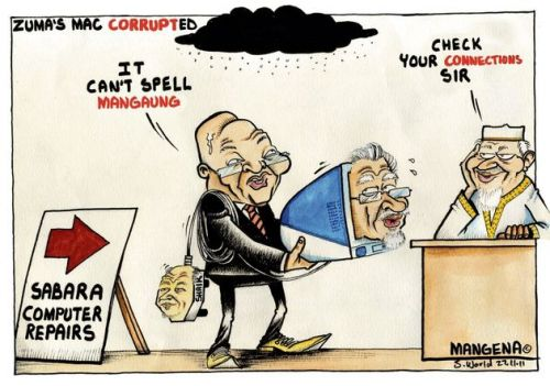 'Zuma's Mac is Corrupted': Africartoons.com