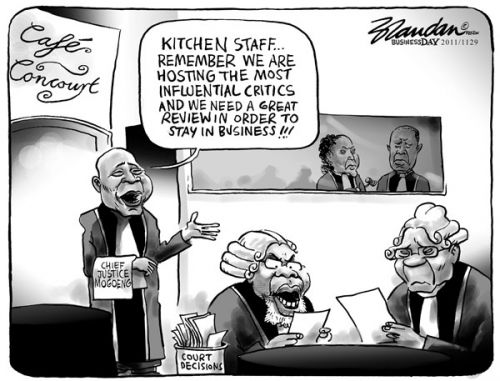 'Silence in Court': Africartoons.com