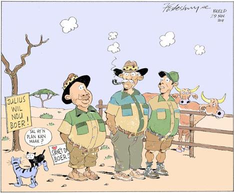 'Boer Maak 'n Plan': Africartoons.com
