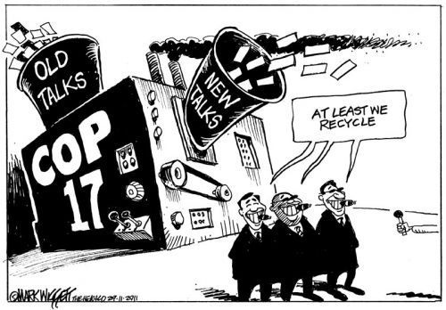 'COP17: Rubbish In, Rubbish Out': Africartoons.com