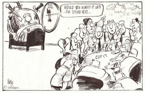 'Big Talk, No Action at COP 17': Africartoons.com