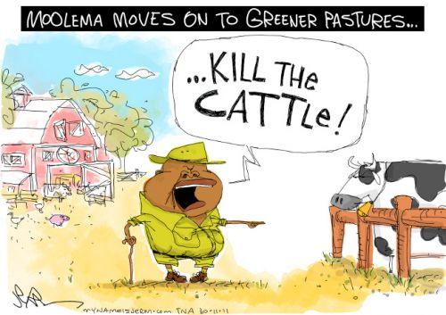 'Moolema to the Slaughterhouse': Africartoons.com