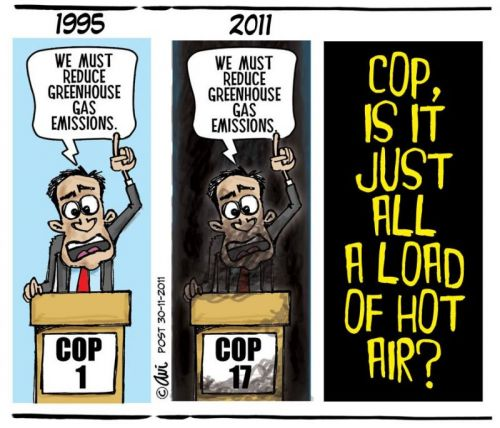'Hot Air at COP17': Africartoons.com