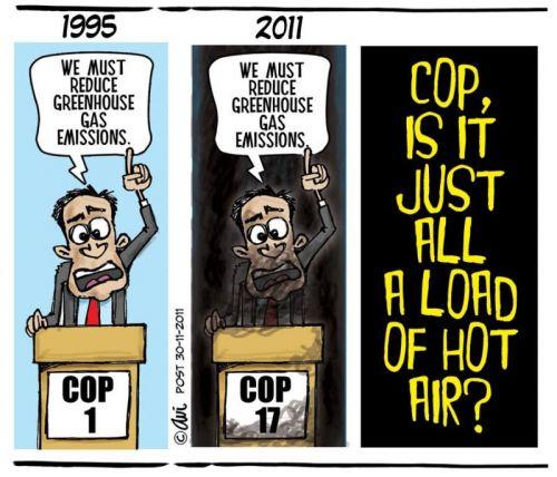 'Hot Air at COP17': Africartoons.com