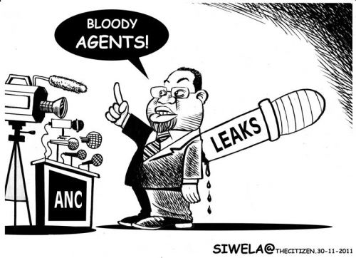 'Mantashe and the Bloody Agents': Africartoons.com
