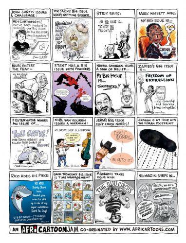 'Cartoonists Reveal their BIG ISSUES': Africartoons.com