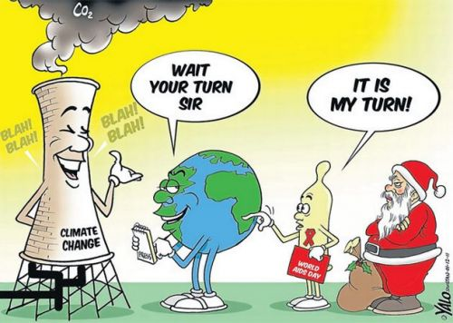 'Climate, Aids and Christmas': Africartoons.com