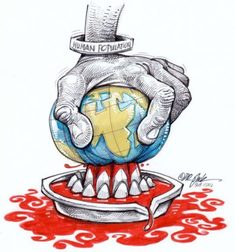 'Drawing Blood From a Planet': Africartoons.com