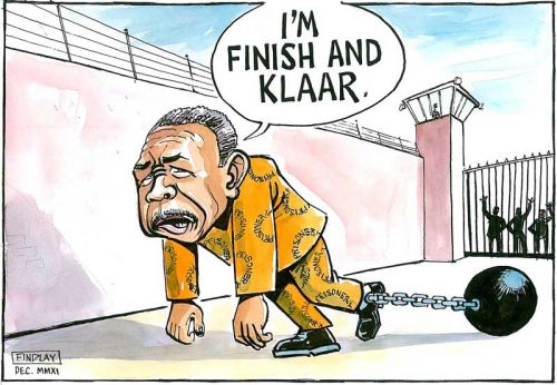 'Selebi. Finished. Klaar.': Africartoons.com