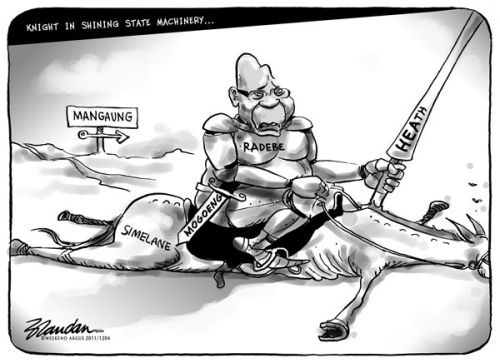 'A Knight in Shining State Machinery': Africartoons.com