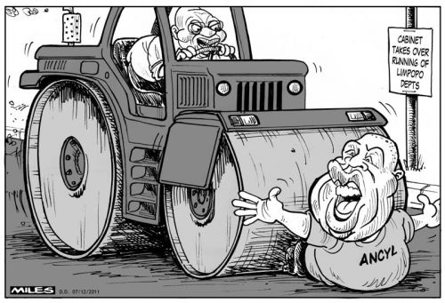 'Govt Takes Back Limpopo from Malema Inc': Africartoons.com