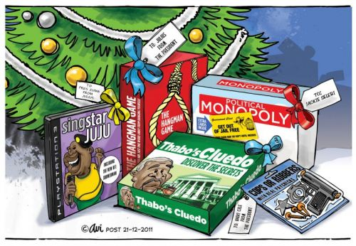 'Under the Tree this Christmas': Africartoons.com