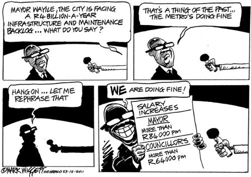 'Mayor Privatises Metro': Africartoons.com
