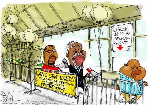 '100 Years of Fighting for Freedom Ends Here': Africartoons.com