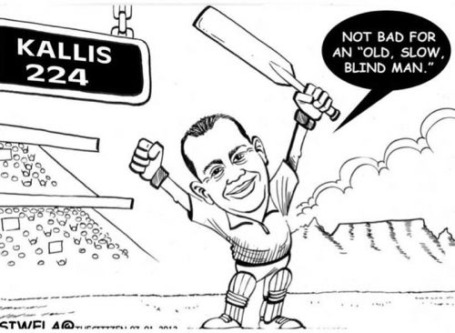 'Double Centurion Kallis ': Africartoons.com