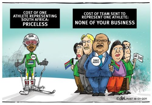 'The Athlete and His Entourage ': Africartoons.com