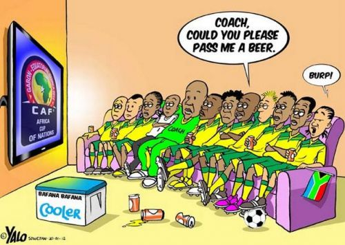 'Bafana and the African Cup of Nations': Africartoons.com