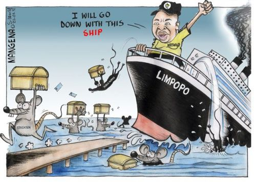 'Captain Malema Sinks with the Ship': Africartoons.com