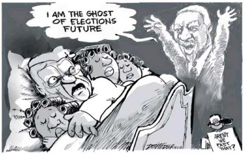 'The Ghost of Elections Future': Africartoons.com