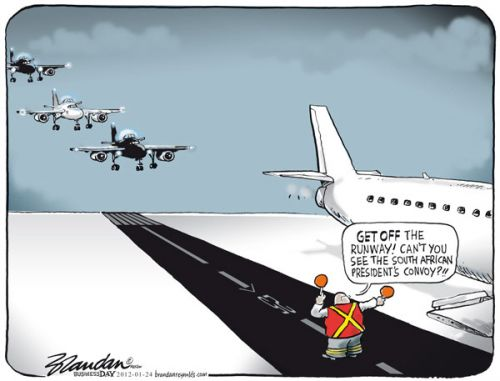 'Airforce One (Two, Three...)': Africartoons.com