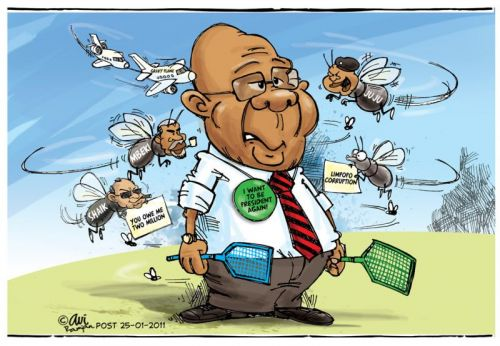 'What's bugging Zuma these days?': Africartoons.com