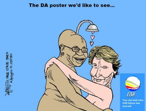 'The DA Poster We'd Like to See': Africartoons.com
