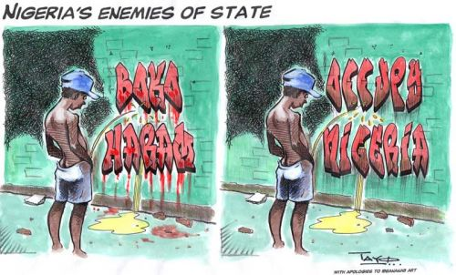 'The Writing's on the Wall in Nigeria': Africartoons.com
