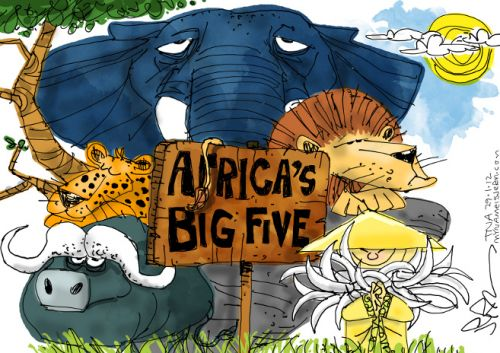 'The Big Four and a Substitute': Africartoons.com