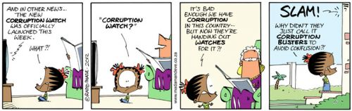 'Time's Up for Corruption': Africartoons.com