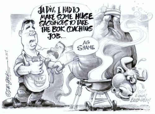 'Heyneke's Big Sacrifice': Africartoons.com