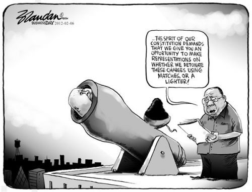 'In Mitigation of Sentence ': Africartoons.com