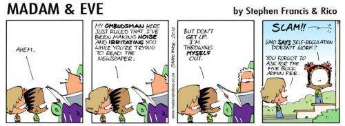 'Thandi Demonstrates Self Regulation': Africartoons.com