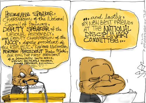 'President Zuma Opens His Address...': Africartoons.com