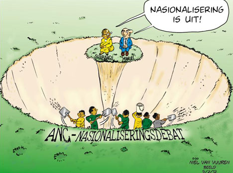 'Debating Nationalisation': Africartoons.com