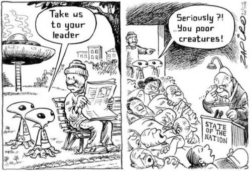 'A Dream of a Leader': Africartoons.com