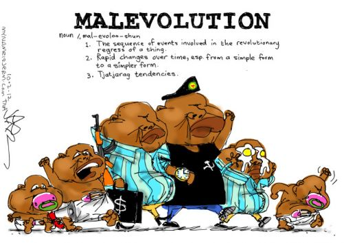 'Malevolence of Malema': Africartoons.com