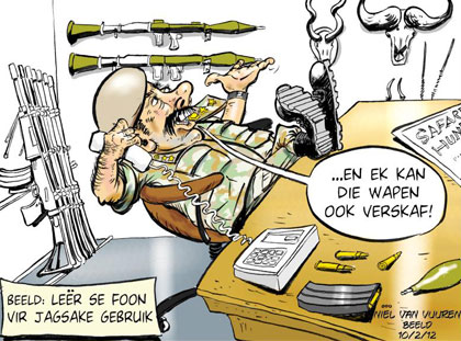 'Misuse of State Equipment': Africartoons.com
