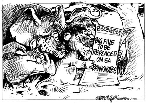 'Big Five Fired': Africartoons.com