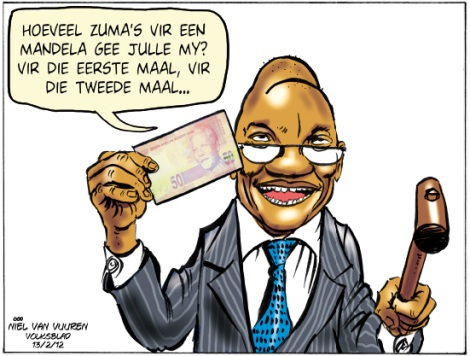 'Zuma and the Mandela Notes': Africartoons.com