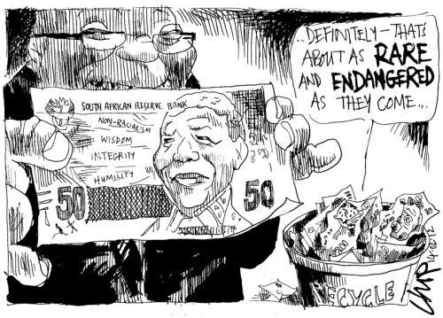 'The Value of A Mandela': Africartoons.com
