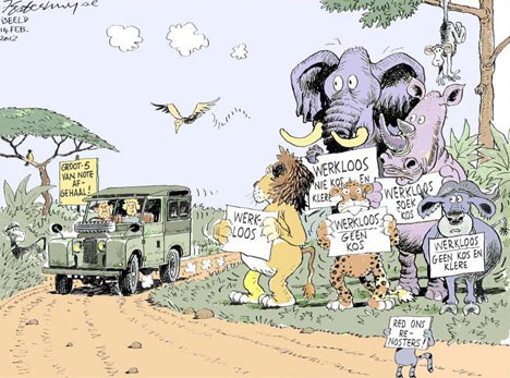'The Bucks Stop Here': Africartoons.com