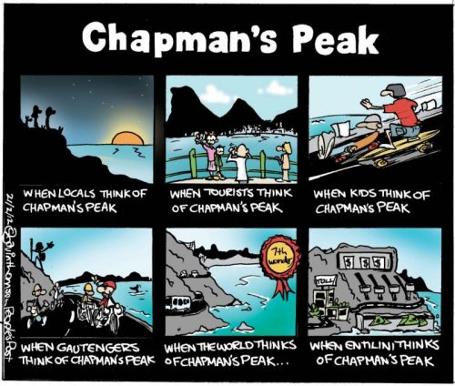 'Chapman's Peak as Others See It': Africartoons.com